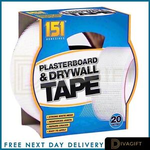PLASTERBOARD DRYWALL TAPE WALL JOINT TAPE MESH ADHESIVE CRACK PATCH HOLE STRONG