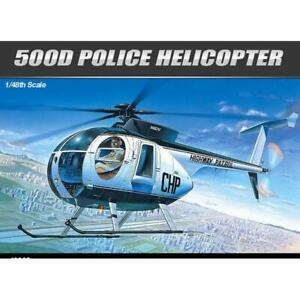 Academy 1/48 Police Helicopter Hughes 500D 12249