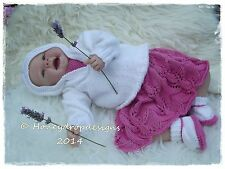 "HONEYDROPDESIGNS ""MAISIE"" 17-24Inch (3 SIZES) REBORN BABY PAPER KNITTING PATTERN"