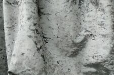 SILVER VELOUR CRUSHED VELVET CURTAINS  UPHOLSTERY fabric sold by the metre