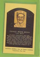Autographed Hall of Fame Postcard   Stan Musial  St Louis Cardinals   (d 2013)