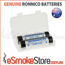 2/4/6 x RONNICO PROTECTED Flat Top 3400mAh Panasonic NCR 18650 B Batteries