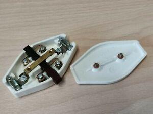 1 x alter Schnurschalter DDR weiß 2-Polig Wechselstrom Zwischenschalter Lampe