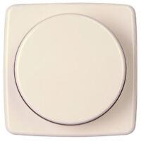 Kopp Dimmerabdeckung Rivo rein-weiß Drehknopf mit Zentralplatte Dimmer Abdeckung