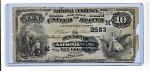 1882-TEN DOLLAR  NATIONAL CURRENCY   [ DATE BACK ]