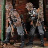 1/35 Resin Figure Model Kit German Soldiers Armed Guards WWII WW2 Unpainted