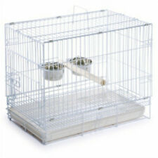 "White Foldable Travel Bird Cage 20x16"" for Medium to Large Birds"