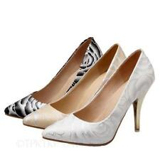 Party Slim Floral Synthetic Heels for Women