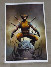 2017 COMIKAZE CON WOLVERINE ART PRINT SIGNED BY JAE LEE 11x17