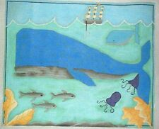 Whales in the Ocean Renaissance Designs HP Handpainted Needlepoint Canvas GJ