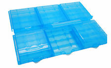 6x Caja Porta pilas Portabaterias Baterias Recargables AA R6 LR03 AAA 2547az