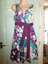 KALEIDOSCOPE LADIES MULTICOLOURED DRESS - SIZE 12