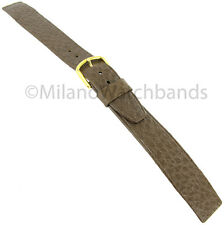 18mm Hirsch Brown Saddle Leather Unstitched Open End Ladies Watch Band 1790 4710
