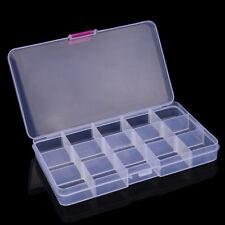 Plastic 15 Slots Adjustable Jewelry Storage Box Case Craft Organizer Bead B