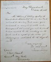 ISAAC TOUCEY 1858 ALS Autograph Letter Signed- Navy Secretary & Attorney General
