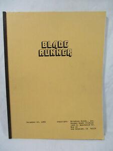 Vtg 1980 Blade Runner Harrison Ford Movie Script Book
