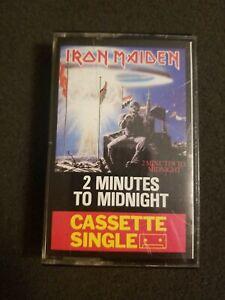 Iron Maiden 2 Minutes To Midnight Cassette Tape Single 1984 Rare