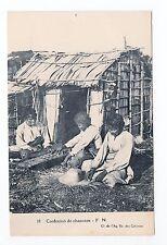 AFRIQUE scenes types ethnies missions  Ethnics La confection de chapeaux