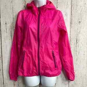 The North Face Women Athletic Jacket Hooded Full Zip Lightweight Nylon XS Pink