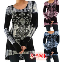 Women Long Sleeve Blouse Casual  Shirt Tunic Tops Blouse Pullover Cozy Tops //