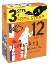 Rotosound Phosphor Bronze Acoustic Guitar Strings JK12-31 3 X Sets + FREE STRAP!