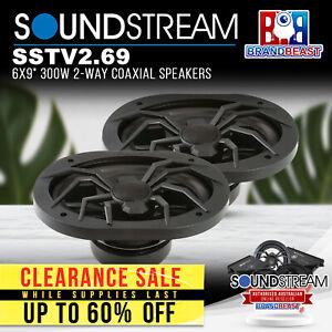 "Soundstream SSTV2.69 6x9"" 300W 2-Way Coaxial Speakers"