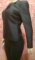 Ann Taylor Black Silk Size 2 Women's Long Sleeve V-Neck Jacket NEW! $ 168 #C