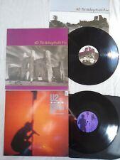 U2 VINYL ALBUMS X 2 - UNFORGETTABLE FIRE / UNDER A BLOOD RED SKY EX