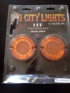 harley led turn signal lens light bulb  fxr dyna softail sportster dual filament