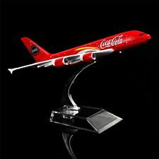 6.3in 1:400 COCA A380  Metal Airplane Model Office Decoration Toy Gift