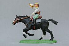 Britains Swoppet ACW Confederate Cavalry Bugler Black Galloping Horse #1