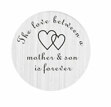 Floating Charm Living Locket 22mm Plate Love Between Mother  Son #1