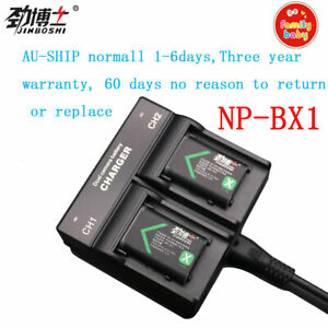 AU-ship 2x NP-BX1 Battery+Dual Twin Charger for Sony DSC-HX300 RX1 RX100 II III
