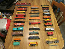 Large Lot of Assorted HO Scale Train Cars Boxcar Tank Caboose Parts