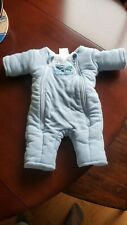 Baby Merlin's Magic Sleepsuit BLUE FLEECE Small 3-6 Months Swaddle Transition