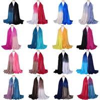 Faddish US Ladies Long Shade Pashmina Shawl Scarf Voile Scarves Stole Wrap Bon