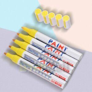 5x Yellow Paint Pen Marker Waterproof Permanent Car Tire Lettering Rubber Letter