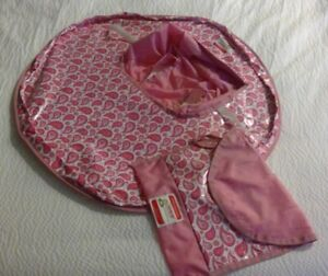 NEATNIK Saucer -Table Topper & High Chair Cover Pink Paisley