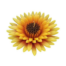 """Yellow Gerbera daisy flower 4"""" Scented floating candles, blue"""