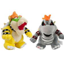 2pcs Super Mario Bros.Dry Bones Bowser & King Bowser Koopa Plush Doll Soft Toys