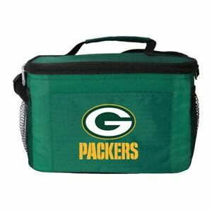 Green Bay Packers Cooler Zipper Insulated Lunch Bag Box Tote 6 Pack NFL