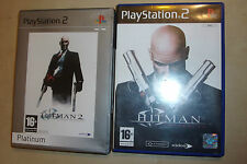 2x PLAYSTATION 2 GIOCHI PS2 Bundle HITMAN 2/II SILENT ASSASSIN + contratti