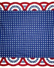 Red White & Blue Old Glory Bunting Border 100% Cotton Fabric 1/4 yard off bolt