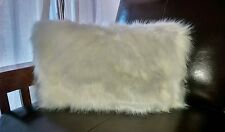 Williams-Sonoma 1 Faux Fur Duvet Pillow Cover Ivory White Snap Close 25 x 13 New
