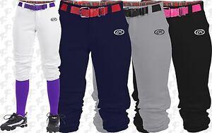 Rawlings Launch Womens Fastpitch Softball Pants WLNCH White, Black, Grey, Navy