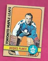 1972-73 TOPPS # 24 LEAFS JACQUES PLANTE GOALIE EX-MT CARD (INV# C6604)