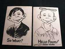 ALFRED E. NEUMAN & GREETINGS FROM NEW YORK 1941 POSTCARDS