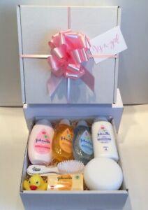 Baby Girl Gift Hamper Basket Maternity Shower Gift Johnsons Baby New Baby Gift
