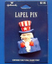 Uncle Sam Hallmark patriotic pin 1992 Usa