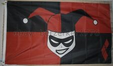 Harley Quinn 3'x5' Black & Red Flag Banner Suicide Squad Joker - Usa Shipper